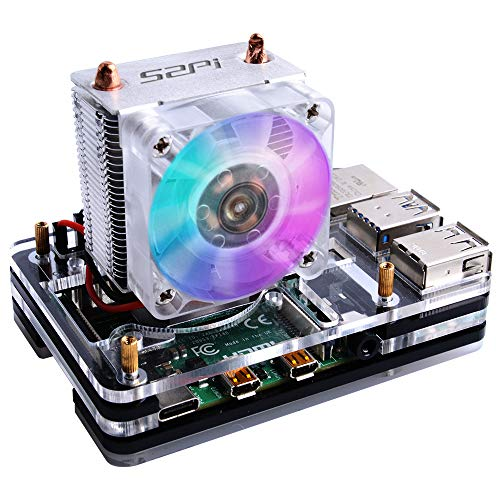 GeeekPi Raspberry Pi 4 Case with ICE Tower Cooler CPU Cooling Fan,Raspberry Pi 4 Case with Fan Raspberry Pi Heatsink Raspberry Pi Fan Raspberry Pi Case for Raspberry Pi 4 Model B