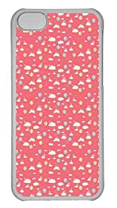 Cloud and balloon Pattern background Polycarbonate Hard Case Cover for iPhone 5C Transparent