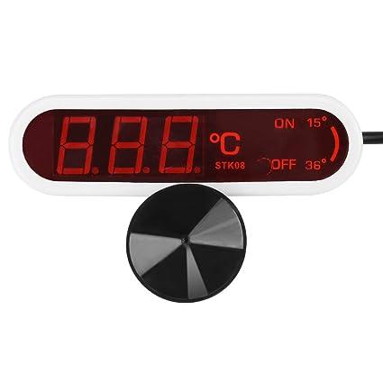 Termómetro, mini termómetro digital transparente del termómetro LED para el acuario