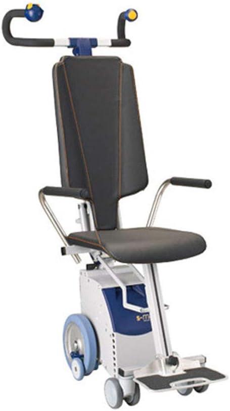 Ancianos Discapacitados Silla de Ruedas Eléctrica para Subir Escaleras, Discapacitados Manual Silla de Ruedas Portátil para Ancianos, Transporte de Escaleras Arriba Y Abajo, Herramienta de Viaje de C