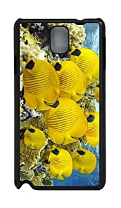 case thinnest covers Yellow Butterfly Fish PC Black case/cover for Samsung Galaxy Note 3 N9000