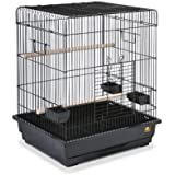Prevue Pet Products Square Roof Parrot Cage, Black