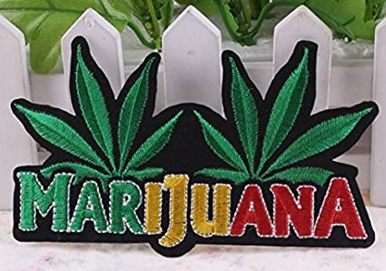 Marijuana Patch Embroidery iron on Patch