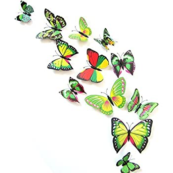 12PCS 3D Green Butterfly Stickers Card Making Stickers Wall Stickers 3D  Crafts Butterflies Part 50