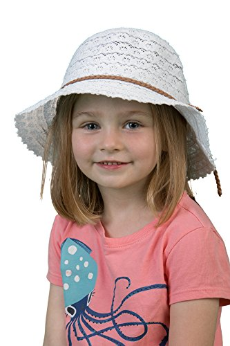 H-6041-09 Children's Lace Sun Hat - (Lifeguard White Hat)