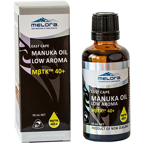 Melora Manuka Oil, MβTK 40+ Low Aroma, 50ml 100% New Zealand East Cape Essential Oil