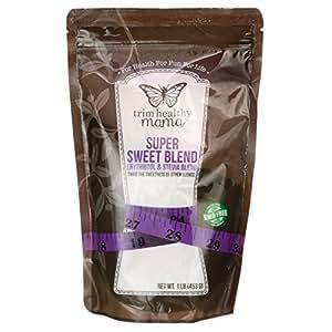 Trim Healthy Mama Super Sweet Blend Erythritol & Stevia Blend 1 lb (453 grams) Pkg
