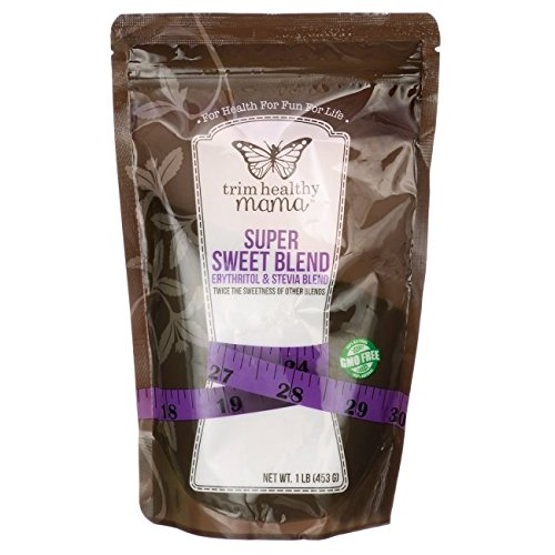Trim Healthy Mama Super Sweet Blend Erythritol & Stevia Blend 1 lb (453 grams) Pkg