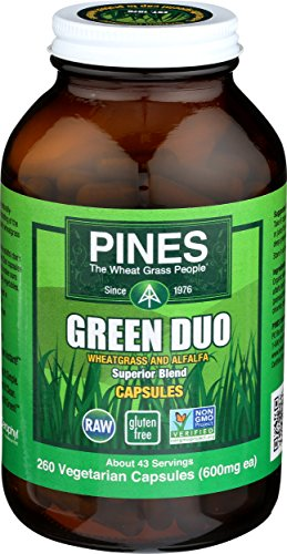 Pines Organic Barley Grass, 500 Count - Pines Wheatgrass Tablets
