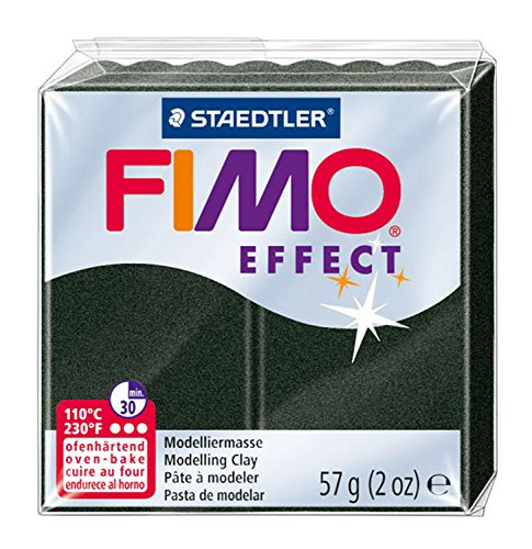 - Staedtler 8020-907 2 oz Black Pearl Fimo Effect Polymer Clay