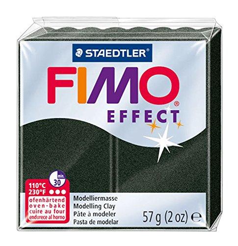 Staedtler 8020-907 2 oz Black Pearl Fimo Effect Polymer