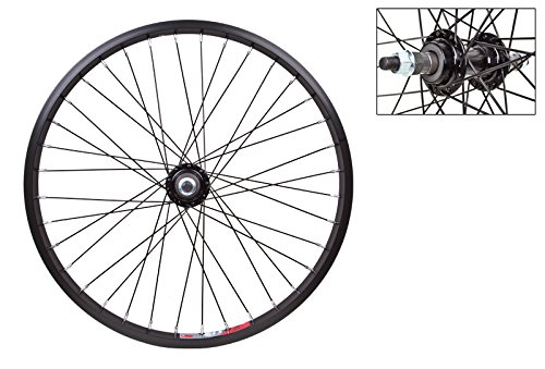 WheelMaster Rear Bicycle Wheel 20 x 1.75 36H, Alloy, Bolt On, Black (20 Wheel Bike)