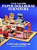 Cut and Assemble Paper Dollhouse Furniture, American Colortype Co., Staff, 0486241505