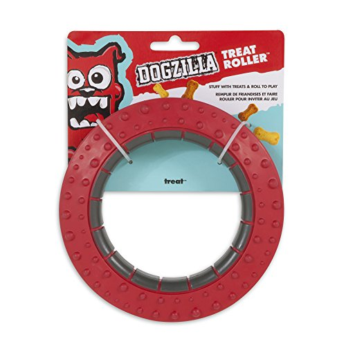 Dogzilla Treat Roller Toy Grey
