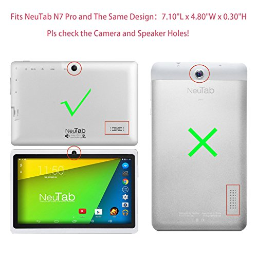 Transwon 2-Pack Scratch Resistant Tempered Glass Screen Protector for NeuTab N7 Pro, Alldaymall A88X, TOPELOTEK 7, Cocopa 7, Ainol Q88, Ufinetec 7, Tagital 7 T7K, iRULU eXpro 3 Tablet-X37, VURU A33