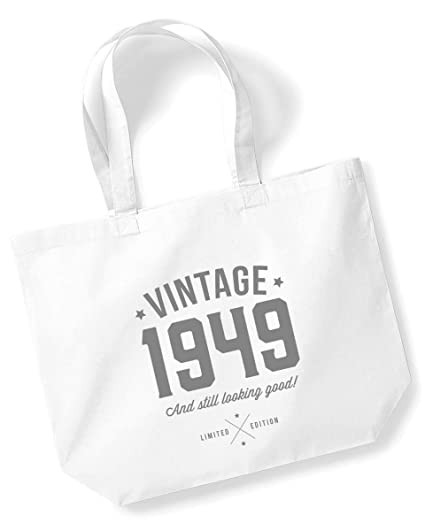 70th Birthday 1949 Keepsake Gift Looking Good Ladies Shopping Bag Present Tote Idea White Amazoncouk Kitchen Home