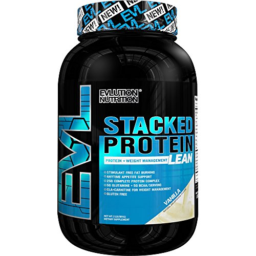 Evlution Nutrition - Stacked Protein Lean, Weight Loss Protein Powder, Vanilla 2 lb