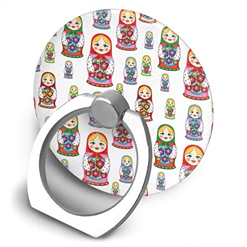 Phone Ring Holder Stand Russian Matryoshka Doll Pattern Grip Mount Compatible with Smartphones for All Phones and Tablets]()