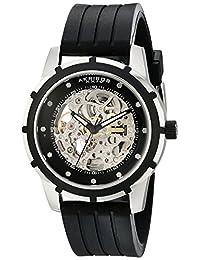 Akribos XXIV Men's AKR444SS Premier Delos Automatic Skeleton Black Watch