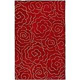 Cheap Safavieh Soho Collection SOH812A Handmade Red Premium Wool Area Rug (3'6″ x 5'6″)
