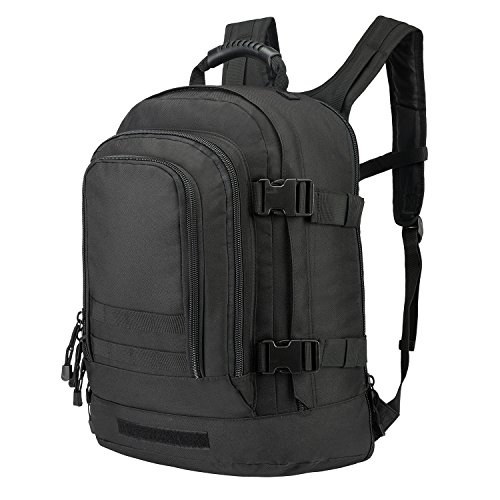 (Tactical Rucksacks Backpack Expandable Large 3 Day Assault Pack Army Molle Water Resistant Comfortable Daypack with Hydration Compartments for Military Hunting Recreation Trekking School Bug Out)