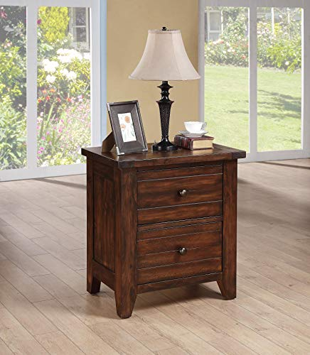 Modus Furniture 9CR181 Cally Solid Wood Nightstand, Antique Mocha For Sale