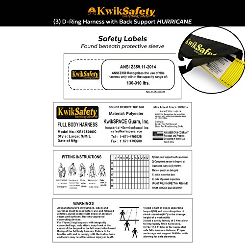 Kwiksafety Hurricane 3d Premium Fall Protection Body