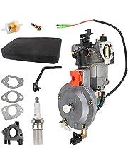 Carbhub Dual Fuel Carburetor LPG NG Conversion Kit for Gasoline Generator 4.5-5.5KW GX390 188F Carburetor with Manual Choke Gasket Spacer Insulator