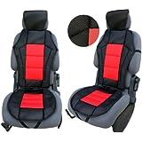 CSC201 - coussin de siège voiture , housse de siège auto Protecteur de siège , coussin cover auto Couvre Siège voiture , Retour Coussin rouge / Noir
