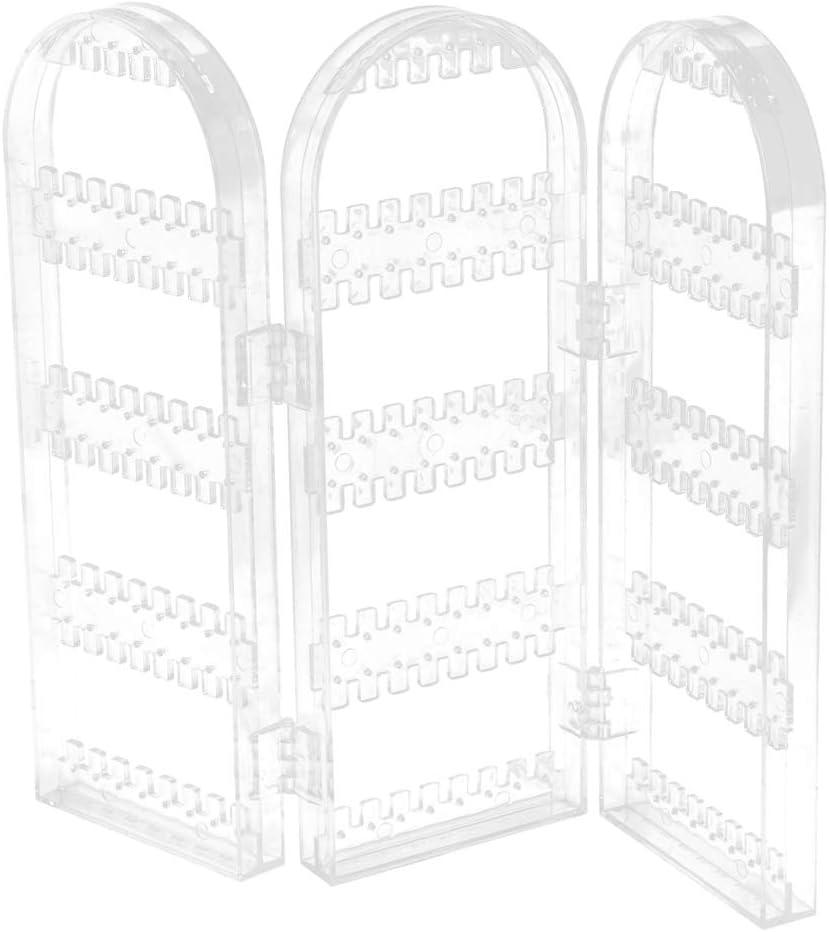 Soporte de Pendientes Plegable Estante Joyas Suministros de Cortacésped Decoración Jardín - 3 transparentes