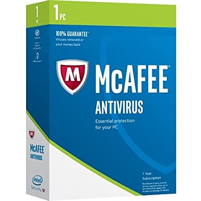 McAfee AntiVirus 2017 - Box Pack - 1 PC