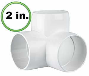 "2"" 3-way Elbow PVC Fitting Connector"