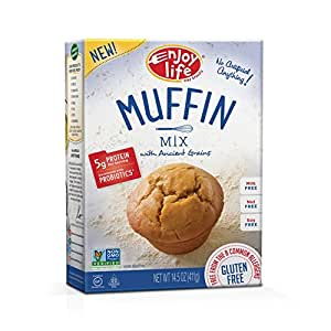Enjoy Life Gluten Free Life Muffin Mix with Ancient Grains, Gluten, Dairy, Nut & Soy Free and Vegan, 14.5 Ounce