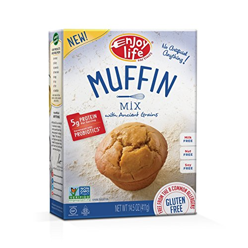 Enjoy Life Baking Mixes, Soy-free, Nut-free, Gluten-free, Dairy-free, Non-GMO, Vegan, Muffin Mix, 14.5 Ounce Box