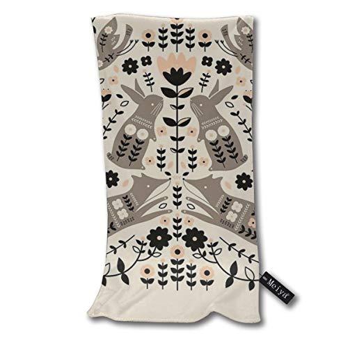 Yuteea Woodland Folklore Dish Towels Funny Tea Towels Kicthen Towel Gift Dishcloth Bath Towel 11.8x27.5inches
