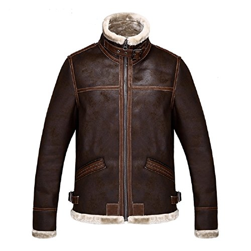 [Smile Style Resident Evil 4 Leon Kennedy Men's Pu Leather] (Leon Kennedy Costumes)