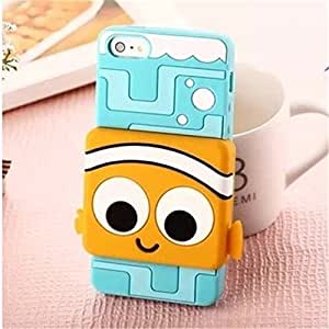 Lovestal Cute Cartoon 3D Pixar Finding Nemo Clownfish Soft Silicone Back Case Cover for Apple iPhone 4 4G 4S + 1psc Lovestal Wristband ( (The clownfish)
