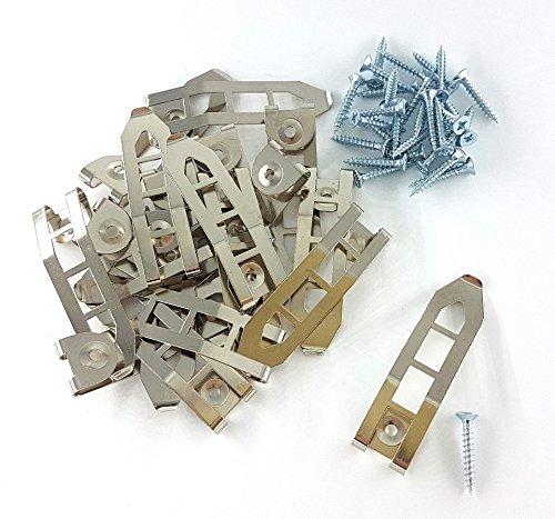 Pinza de resorte para lienzo tipo escalera, 20 unidades, con tornillos Pozzi