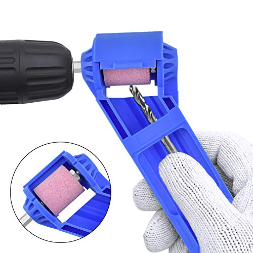 Ansblue Diamond Drill Bit Sharpening Tool,Portable Drill Bit Grinder, Iron-based Bit for Grinding- Blue