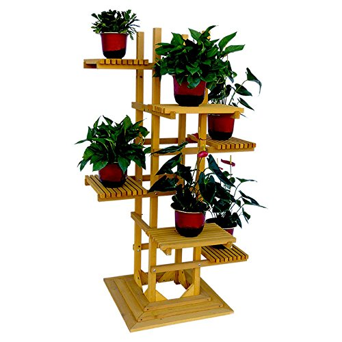 6-Tier Wooden Pedestal Plant Stand by Leisure Season