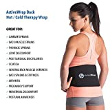 ActiveWrap Back Pain Support Wrap - Includes Reusable Hot Cold Therapy Pack - Lower Lumbar Brace for Sciatic Nerve Pain Relief