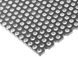 A36 Steel Perforated Sheet, Unpolished (Mill) Finish, Hot Rolled, Staggered 0.25'' Holes, ASTM A36, 0.12'' Thickness, 11 Gauge, 24'' Width, 48'' Length, 0.375'' Center to Center