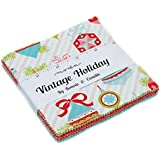"Vintage Holiday Charm Pack By Bonnie & Camille; 42-5"" Precut Fabric Quilt Squares"