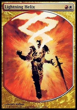 Magic: the Gathering - Lightning Helix - Textless Player Rewards - Player Rewards Promos