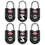 SURE LOCK TSA Compatible Travel Luggage Locks, Alloy body with Steel Shackle, Keyed Lock