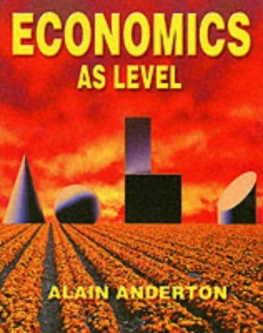 Economics AS Level Mr Alain Anderton