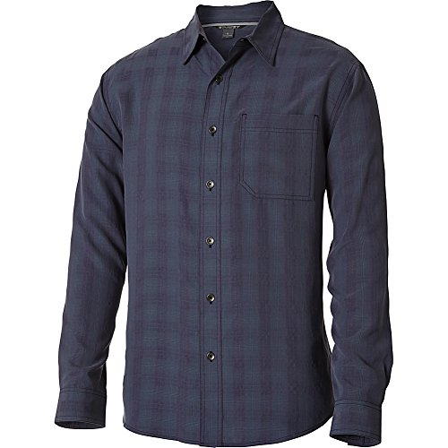 Royal Robbins Men's San Juan Plaid Long Sleeve Top,PEWTER,X-Large