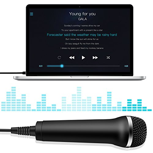 3M/10ft Rock Band or Guitar USB Wired Universal Karaoke Microphone for PS4,  PS3, Xbox One, xbox 360, Wii U, PC etc  - Silver