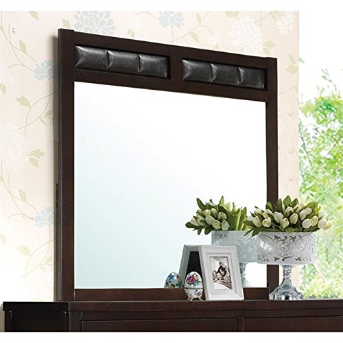Coaster Home Furnishings Carlton Upholstered Dresser Mirror ()