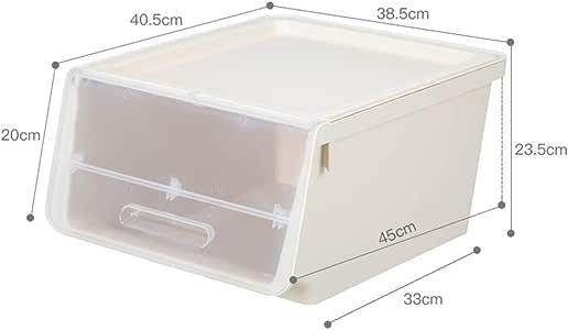 XT/XT Caja plastico almacenaje Cajas de Almacenamiento, plástico Transparente Cajón Transparente De Plástico Armario Caja Zapatos De Acabado Ropa Cajas De Almacenamiento De Ropa Cajas: Amazon.es: Hogar